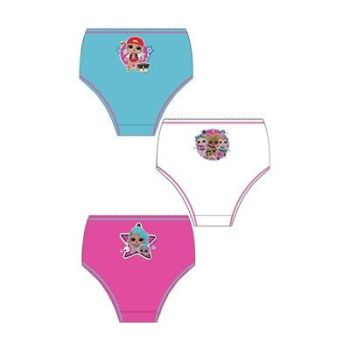 "Code:33259, Official ""LOL"" girls 3 in a pack briefs £1.80. 18pks.."