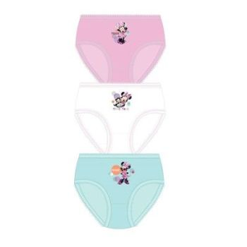 "Code:33262, Official ""Minnie"" girls 3 in a pack briefs £1.80. 18pks.."