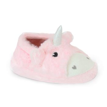 *FT1597, Girls Unicorn Slippers £3.65.  pk24...