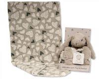 GP1053, Rabbit Toy with Coral Fleece Heart Blanket £6.95.  PK6...