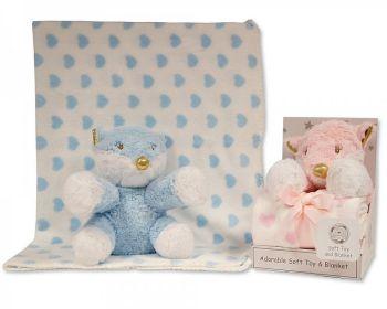 GP1051, Fox Toy with Coral Fleece Heart Blanket £6.95.  PK6...