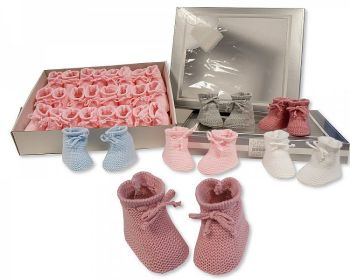 BSS376, Knitted Baby Booties £1.00.  PK12...