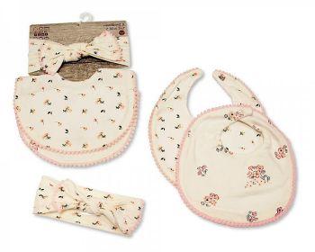 GP1022, Baby Bibs and Headband Set (2 Bibs, 1 Headband) £3.10.  6PKS...