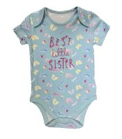 """BAB0110, EX M-THERCARE BUTTERFLY """"LITTLE SISTER"""" BODYSUIT £1.50.   PK24..."""