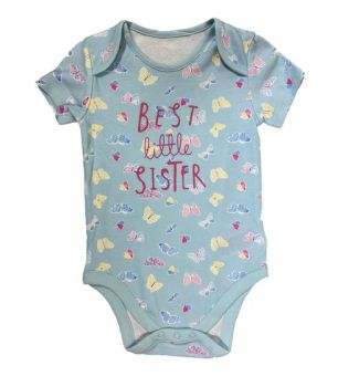 """BAB0110, EX M-THERCARE BUTTERFLY """"LITTLE SISTER"""" BODYSUIT £1.50.   PK12..."""