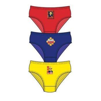 """Code:33245, Official """"Fireman Sam"""" boys 3 in a pack briefs £1.80. 18pks.."""