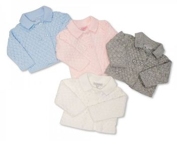 *BW792, Knitted Chunky Baby Jacket £9.80.  PK6...