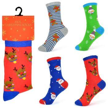 "SK301B, Kids ""Christmas"" novelty socks £6.50 a dozen.  10 dozen..."