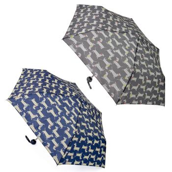 UU0332,  Supermini Sausage Dog Print Umbrella £1.95.  pk12...