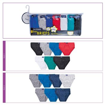 BR208, Boys 7 in a pack briefs £2.50.  16pks........