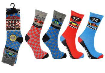 Code:2376, Boys Speed Racer Socks £3.00 a dozen.   5 dozen...