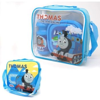"Code:9499, Official ""Thomas"" 3 pcs lunch bag set £3.75.  pk24..."