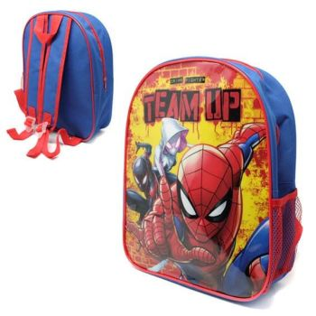 "*Code:9183, Official ""Spiderman"" Backpack With Mesh Side Pocket £2.25.  pk12..."
