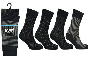 Code:2491, Mens design socks £3.95 a dozen.  10 dozen (120 pairs)....