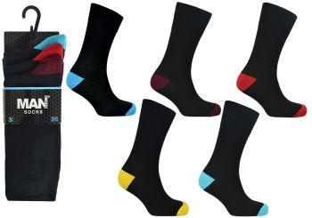 Code:2490, Mens coloured heel & toe design socks £3.95 a dozen.  10 dozen (120 pairs)....
