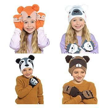 Childrens Hat & Glove Set