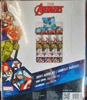 *V0946, Official Marvel Avengers Reversible Single Duvet Cover Set £7.95. pk3..