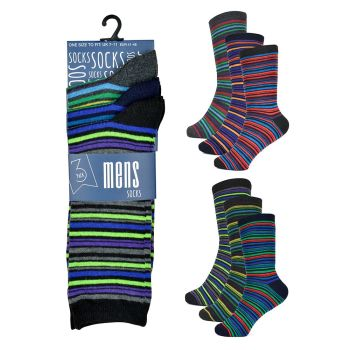 SK143CTN, Mens Stripe Design Socks £3.35 a dozen.   36 dozen.....
