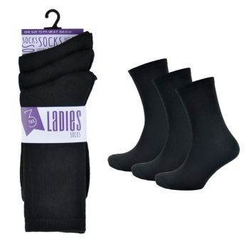 SK128CTN, Ladies Black Socks £3.00 a dozen.   36 dozen...
