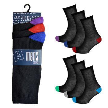 SK173CTN, Mens Heel & Toe Design Socks £3.00 a dozen.   36 dozen.....