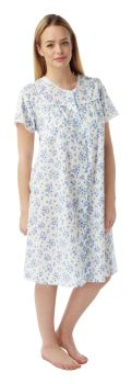 "*MN12, ""Marlon"" Ladies button through poly/cotton nighty £4.60. pk3........"