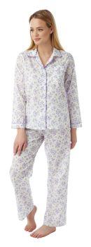 MM1567, Ladies Floral Poly/Cotton Pyjama £8.50.  pk12..