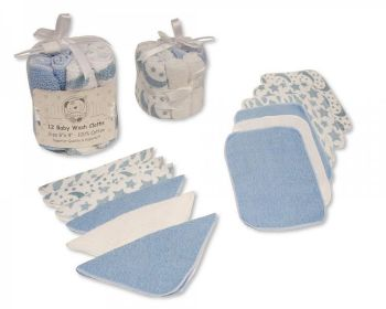 GP1056S, Baby 12 in a Pack Wash Cloths - Blue £2.95.  6pks...
