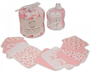 GP1056P, Baby 12 in a Pack Wash Cloths - Pink £2.95.  6pks...