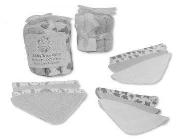 GP1056G, Baby 12 in a Pack Wash Cloths - Grey £2.95.  6pks...
