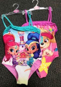 Code:6205, Girls Character Swimming Costume £2.75.   pk24...