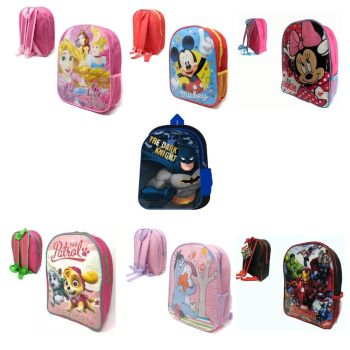 *CTN15, 50 Assorted Character Backpacks £2.15 each....
