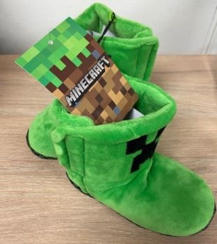 "Code:4478, Kids ""Minecraft"" Slippers Boots £2.95.  pk20...."