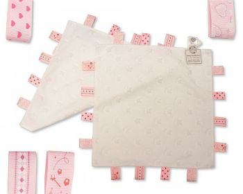 GP1024WG, Star Embossed Baby Girls Comforter with Tags - White £2.50.   PK6...