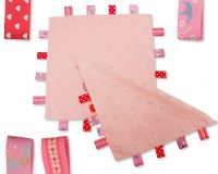 GP1024P, Star Embossed Baby Comforter with Tags - Pink £2.50.  PK6...