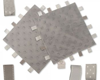 GP1024G, Star Embossed Baby Comforter with Tags - Grey £2.50.  PK6...