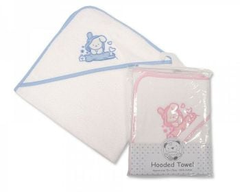 BW005, Baby Hooded Towel - Hearts £3.50.  PK3...
