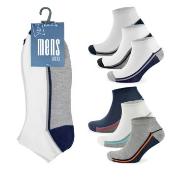 SK145, Mens Design Trainer Sock £3.50 a dozen.   10 dozen....