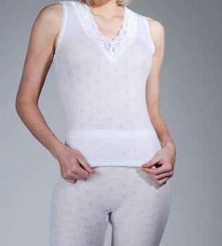 """SD876, """"Snow Drop"""" Brand Ladies Built Up Shoulder Thermal Vest  1 dozen......."""