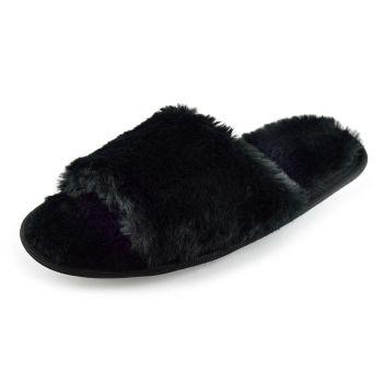 FT1744BK, Ladies Plush Slider Slippers £3.25.  pk24...