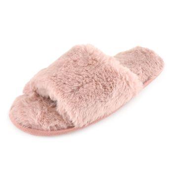 FT1744PK, Ladies Plush Slider Slippers £3.25.  pk24...
