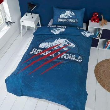 """*V1103, Official """"Jurassic World""""""""Claws"""" Reversible Single Duvet Cover Set £12.75. pk3...."""