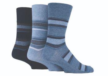 """SOMRJ529, Mens """"Gentle Grip"""" design socks.  1 dozen.."""