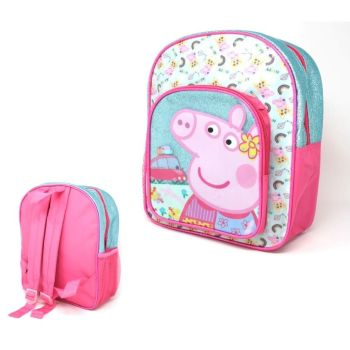 "Code:9431, Official ""Peppa Pig"" Deluxe Backpack £4.10.  pk6..."