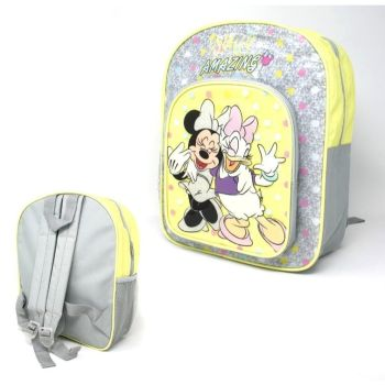 "Code:9596, Official ""Minnie"" Glitter Deluxe Backpack £3.95.  pk12..."