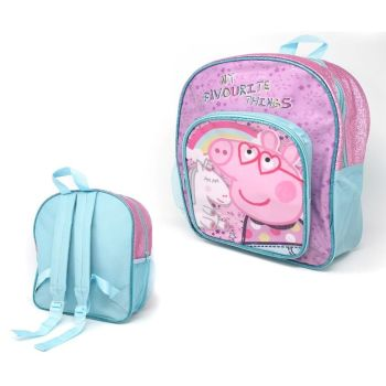 "Code:9606, Official ""Peppa Pig"" Glitter Deluxe Backpack £4.10.  pk6..."