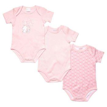 JTC8529SG, 3 Pack Girls Short Sleeve Body Vest- Elephant & Rabbit £4.10.  18pks...