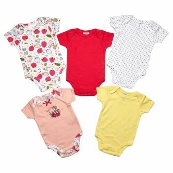 "JTC8561SG, ""Just Too Cute"" Brand Girls 5pk Short Sleeve Bodyvest £4.75.  12pks..."