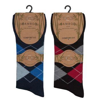 40B531, Mens Bamboo Non Elastic  Design Socks £8.40 a dozen.   3 dozen...
