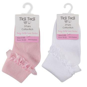 44B077, Baby Girls Lace TOT Socks £7.00 a dozen.   27 dozen....