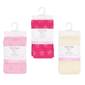 45B123, Baby Textured Nylon Tights £1.40.  pk96...